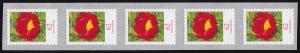 3121III Blume 62 Cent sk aus 5000-Rolle 5er-Streifen GERADE Nummer **