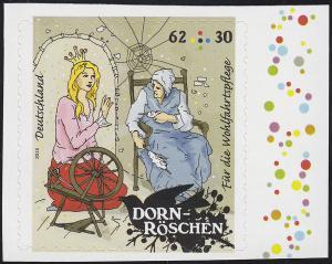 3136 Wofa Grimms Märchen - Dornröschen 62 Cent, selbstklebend aus MH 98, **
