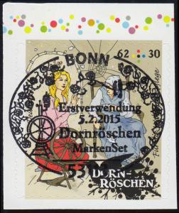 3136 Wofa Grimms Märchen - Dornröschen 62 Cent, selbstklebend aus MH 98, EV-O