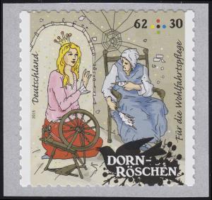 3136 Wofa Grimms Märchen - Dornröschen 62 Cent, selbstklebend von der Rolle **