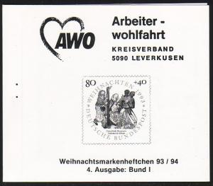 AWO/Weihnachten Leverkusen 1993 Heilige Könige 80 Pf 1707 ohne Klammer ESSt Bonn