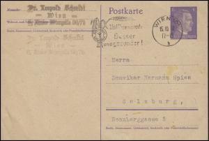 P 299I mit Werbe-O Vollkornbrot: Besser und gesünder! Wien 15.10.42 n. Salzburg