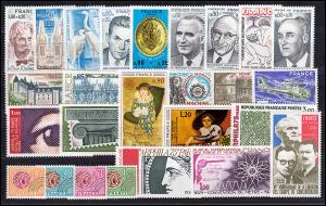 1900-1946 Frankreich Jahrgang 1975 komplett, postfrisch