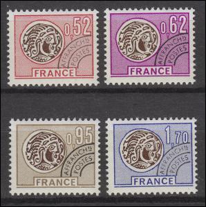 1972-1975 Freimarken mit Vorausentwertung - Keltische Münzen, 4 Werte, Satz **