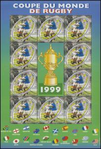3421 Rugby-Weltmeisterschft 1999 - Kleinbogen mit PLF I: ITV statt ITV F, KB **