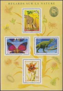Block 23 Naturhistorisches Museum Falter Giraffe Dinosaurier Pflanzen **