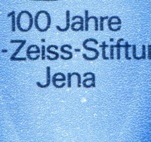 3252-3253 Carl-Zeiss-Stiftung Zusammendruck mit PLF: weißer Fleck **