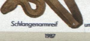 792DD Wofa Schlangenarmreif - Schmitzdruck schwarz (nur Inschriften) **