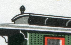 2562+2564 Schmalspurbahnen 20+25 Pf mit PLF 2564: Punkt im Dach, **