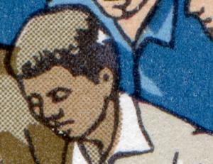 2609-2610 FDJ-ZD mit PLF 2610: Loch im Haar als weißer Fleck, Feld 6 **