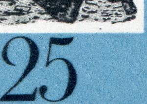 1680-1681 FIR-Zusammendruck mit PLF 1681: Punkt im weißen Rahmen, Feld 24 **