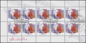 2126 Johann Sebastian Bach - 10er-Bogen ESSt Berlin 13.7.2000