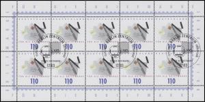2148 Tag der Briefmarke - 10er-Bogen ESSt Berlin 12.10.2000