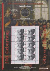 3145 200. Geburtstag Otto von Bismarck - Numisblatt 2/2015
