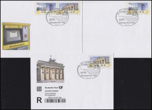 ATM-Ganzsachen-Set: mit USo 166-169 und PSo 99, je mit ESSt Bonn 24.10.2008