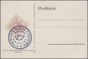 Thurn und Taxis ND 38 Ziffer 1 Sgr auf Sonder-Postkarte 1923 - Auflage 500 Stück