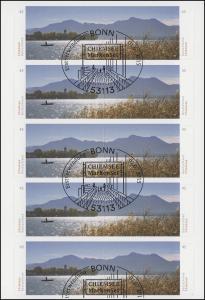 FB 49 Panorama Chiemsee, Folienblatt mit 5x 3167-3168, EV-O Bonn