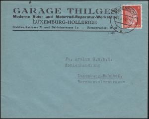Luxemburg Hitler-EF 8 Pf Auto- und Motorrad-Reparatur Ortsbf LUXEMBURG 22.6.44