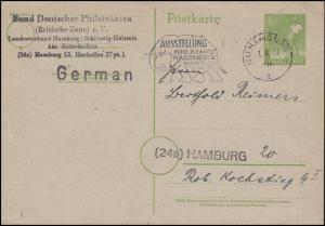 Gemeinschaft Postkarte P 961 als Orts-PK Zoo Hagenbeck Elefant HAMBURG 1.4.48