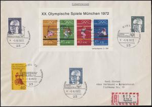 Sonder-R-Zettel Olympische Segelwettbewerbe Kiel R-Bf SSt Pressezentrum 1.8.72