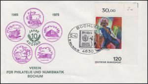 823III Kirchner: Ecke oben rechts mit PLF III, Schmuck-Bf. SSt BOCHUM 12.4.75