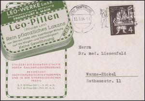 198 Gutenberg-Bibel EF Drucksache Pharmazie  Leo-Pillen Laxans DORTMUIND 23.5.54