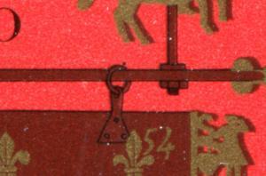 1023 Erster 10er-Bogen Tag der Briefmarke 1979 mit PLF auf Feld 9, **