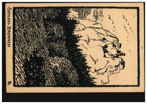 692 Gartenschau 5 Pf AK Spaten und Hut SSt STUTTGART Reichsgartenschau 20.8.39