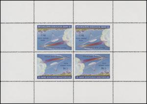 Vignetten-Kleinbogen-Set DRG Deutscher Raketenflug E. Zucker, gez. und ungezähnt