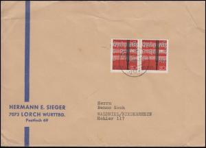 385 Lied und Chor 20 Pf. MeF Brief LORCH 16.1.63 nach Waldniel / Niederrhein