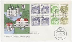 HBl. 21 aus MH 13 BuS 1982 - Heftchenblatt auf Schmuck-FDC BERLIN 12 - 1.7.82