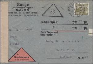 53 Berliner Bauten 50 Pf. EF Orts-Nachnahme-Bf Gerichtsvollzieher BERLIN 21.7.56