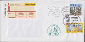 USo 18 Halberstadt Sonder-R-Zettel PLUSBRIEF ATM 3.2 FDC ESSt HANNOVER 22.10.02