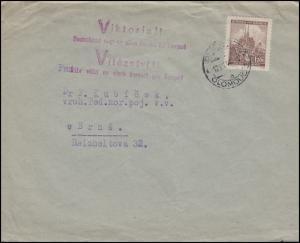 Böhmen und Mähren Brief Propaganda-Stempel VIKTORIA EF 41 OLMÜTZ 12.7.41