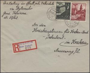 45+49 Bauwerke MiF R-Bf Volksschule BOCHNIA 18.9.42 n. KRAKAU Schulamt 19.9.42