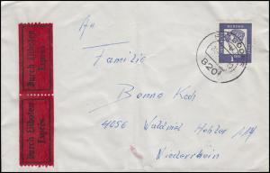 361y Droste-Hülshoff 1 DM EF auf Eil-Bf. FRASDORF 24.1.64 nach WALDNIEL 15.1.64