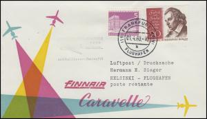 Erstflug FINNAIR Caravelle Frankfurt / Main - Helsinki, Bf. MiF FRANKFURT 1.4.60