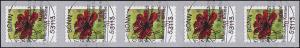 3197 Blume 70 Cent sk aus 500-Rolle 5er-Streifen mit UNGERADER Nummer, EV-O Bonn