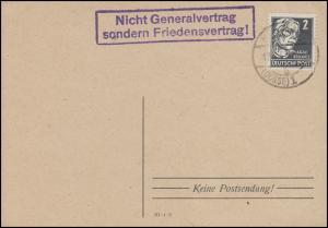 Propaganda-O Nicht Generalvertrag sondern Friedensvertrag, NEUSTADT/D. 21.12.52