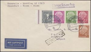 Erstflug LH 178/9 Frankfurt-Nizza-Palma, Heuss-ZD W18 auf DS FRANKFURT 1.4.64