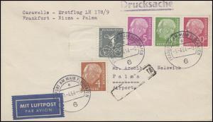 Erstflug LH 178/9 Frankfurt-Nizza-Palma mit Heuss + 285 FRANKFURT 1.4.64