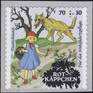 3215 Grimms Märchen - Rotkäppchen 70 C, selbstklebend von der Rolle **