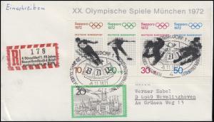 Sonder-R-Zettel Neues Handbuch der Briefmarkenkunde R-Bf. SSt DÜSSELDORF 6.11.71