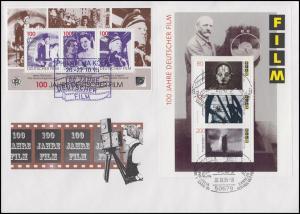 Block 33 Filmblock Schmuck-Brief SSt Köln Philatelia 20.10.95 mit APHV-Vignette