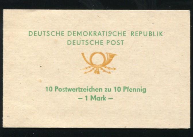 SMHD 1da Posthorn 1972 mit 10x 10 Marken und mit DDF Posthorn defekt, ** 0