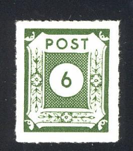 43GaVIII Postmeistertrennung Loschwitz 6 Pf. - mit PLF VIII Punkt am T von POST