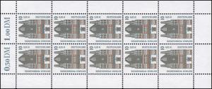 2139 SWK 10 Pf / 5 Cent Rathaus Wernigerode - 10er-Bogen **