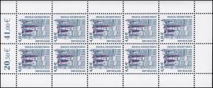 2323 SWK 4,10 Euro Giebelhäuser Wismar - 10er-Bogen ** postfrisch