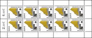 2298 SWK 0,44 Euro Berliner Philharmonie - 10er-Bogen ** postfrisch