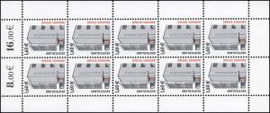 2302 SWK 1,60 Euro Bauhaus Dessau - 10er-Bogen ** postfrisch